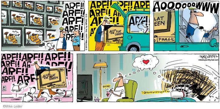 Cartoonist Mike Lester  Mike du Jour 2012-12-09 dog