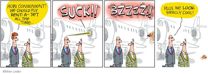 Cartoonist Mike Lester  Mike du Jour 2012-12-18 airplane travel