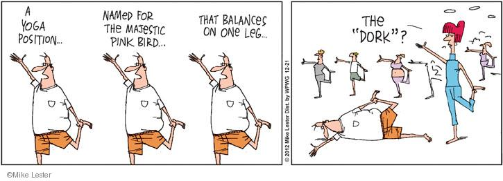Comic Strip Mike Lester  Mike du Jour 2012-12-21 yoga