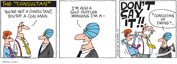 Comic Strip Mike Lester  Mike du Jour 2013-01-12 golf swing