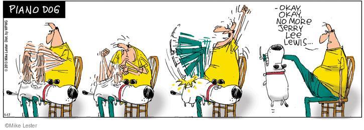 Cartoonist Mike Lester  Mike du Jour 2013-01-17 dog