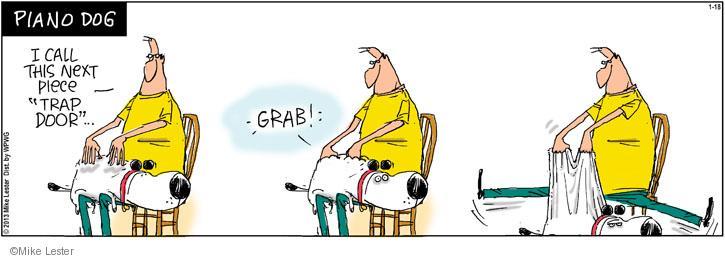 Cartoonist Mike Lester  Mike du Jour 2013-01-18 dog
