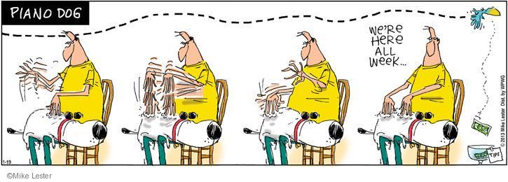 Cartoonist Mike Lester  Mike du Jour 2013-01-19 dog