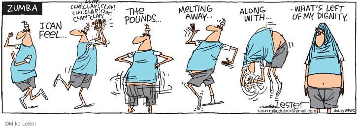 Cartoonist Mike Lester  Mike du Jour 2013-01-28 clap