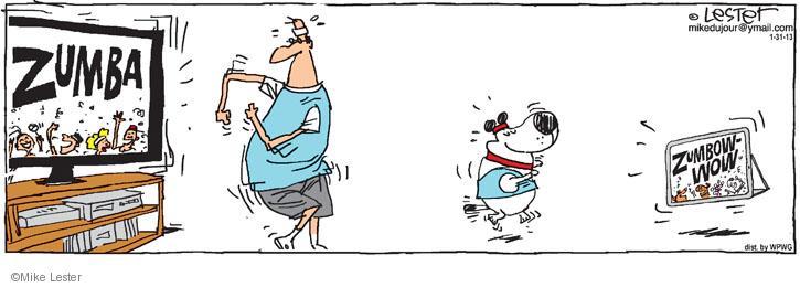Cartoonist Mike Lester  Mike du Jour 2013-01-31 dog