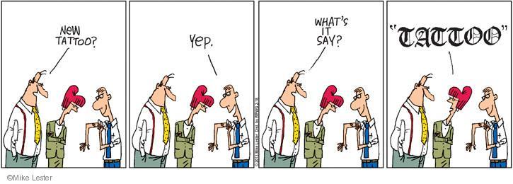 Comic Strip Mike Lester  Mike du Jour 2013-02-18 text