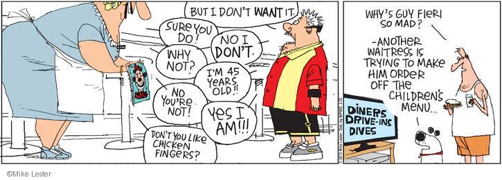 Comic Strip Mike Lester  Mike du Jour 2013-02-22 finger