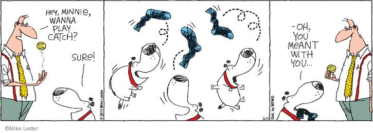 Comic Strip Mike Lester  Mike du Jour 2013-03-11 catch