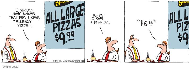 Comic Strip Mike Lester  Mike du Jour 2013-03-20 pizza