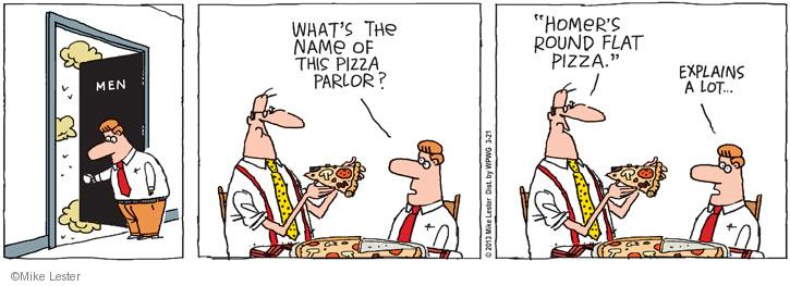 Comic Strip Mike Lester  Mike du Jour 2013-03-21 pizza