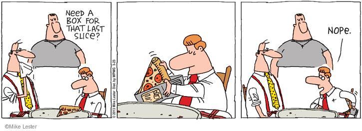 Cartoonist Mike Lester  Mike du Jour 2013-03-23 slice