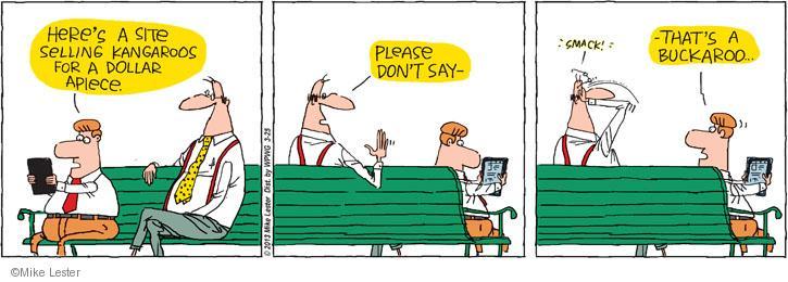 Cartoonist Mike Lester  Mike du Jour 2013-03-25 sell