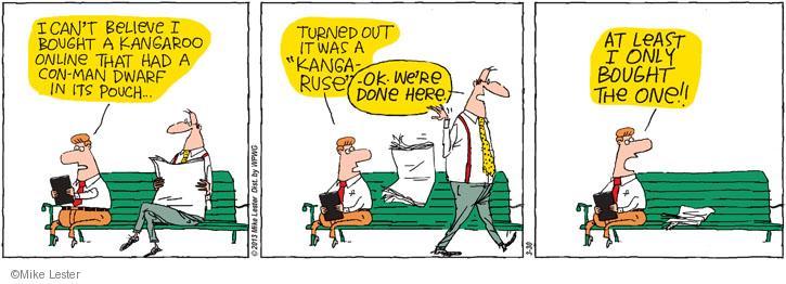 Cartoonist Mike Lester  Mike du Jour 2013-03-30 buy
