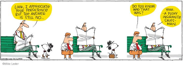Cartoonist Mike Lester  Mike du Jour 2013-04-15 sell