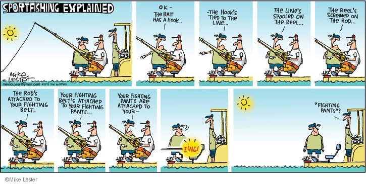 Cartoonist Mike Lester  Mike du Jour 2013-04-21 belt