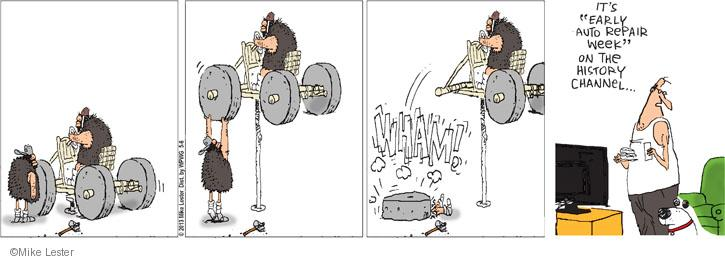 Comic Strip Mike Lester  Mike du Jour 2013-05-06 car show