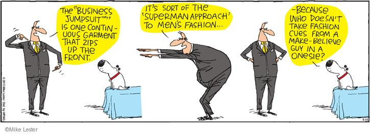 Cartoonist Mike Lester  Mike du Jour 2013-05-14 men's clothes