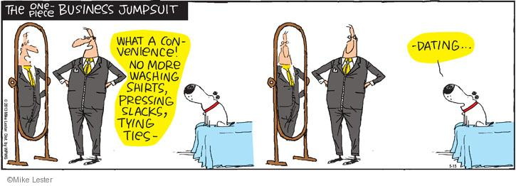 Cartoonist Mike Lester  Mike du Jour 2013-05-15 work clothes