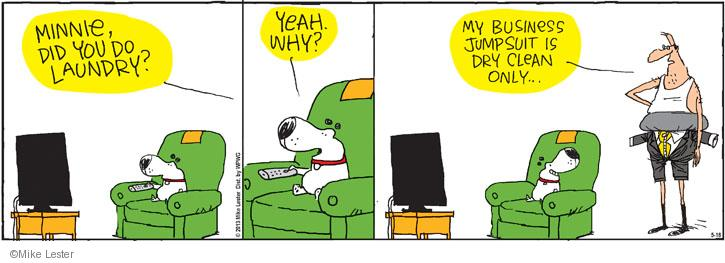 Comic Strip Mike Lester  Mike du Jour 2013-05-18 dry cleaning