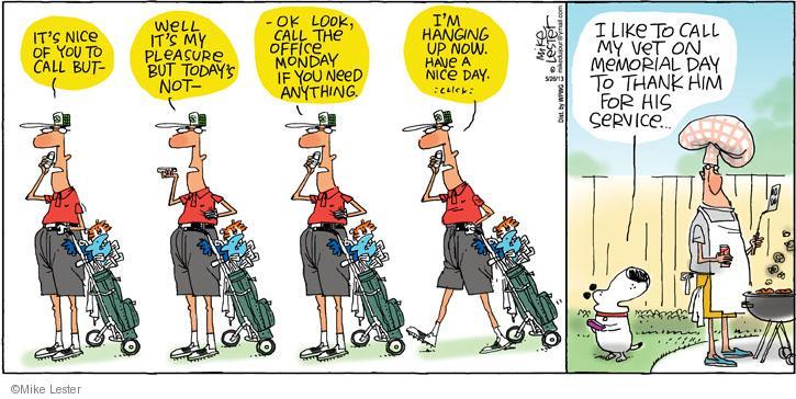 Cartoonist Mike Lester  Mike du Jour 2013-05-26 holiday