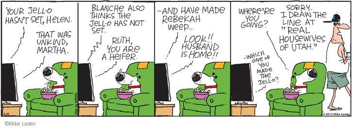 Comic Strip Mike Lester  Mike du Jour 2013-05-31 television cartoon