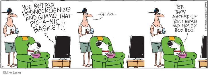 Comic Strip Mike Lester  Mike du Jour 2013-06-01 television cartoon