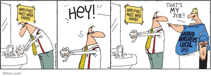 Cartoonist Mike Lester  Mike du Jour 2013-06-08 employment