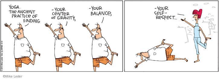 Comic Strip Mike Lester  Mike du Jour 2013-06-14 yoga