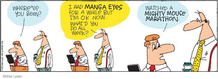 Comic Strip Mike Lester  Mike du Jour 2013-06-29 television cartoon