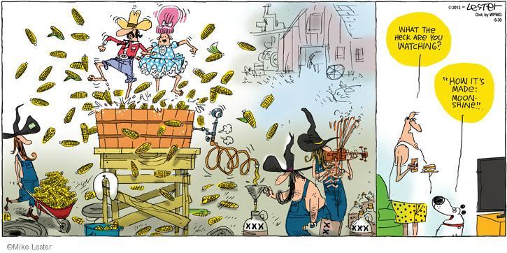 Comic Strip Mike Lester  Mike du Jour 2013-06-30 television cartoon