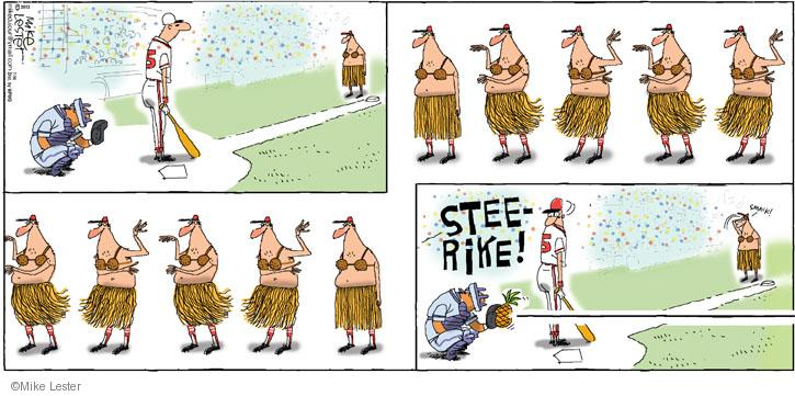 Comic Strip Mike Lester  Mike du Jour 2013-07-14 baseball