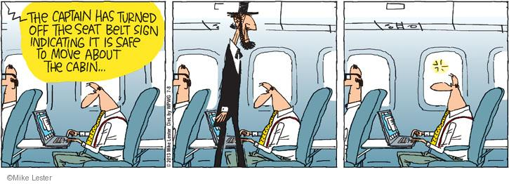 Cartoonist Mike Lester  Mike du Jour 2013-07-08 airplane travel