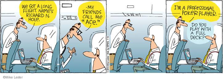 Cartoonist Mike Lester  Mike du Jour 2013-07-10 airplane travel