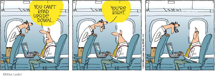 Cartoonist Mike Lester  Mike du Jour 2013-07-11 airplane travel