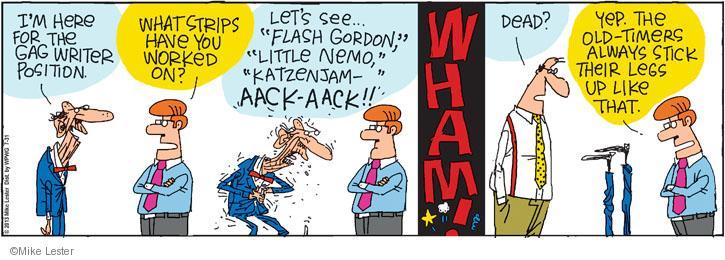 Cartoonist Mike Lester  Mike du Jour 2013-07-31 humor