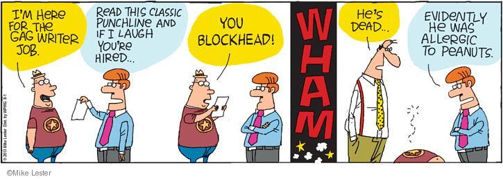 Cartoonist Mike Lester  Mike du Jour 2013-08-01 laugh