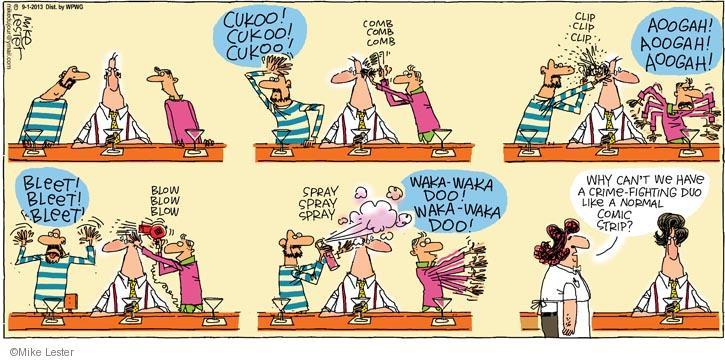 Cartoonist Mike Lester  Mike du Jour 2013-09-01 crime