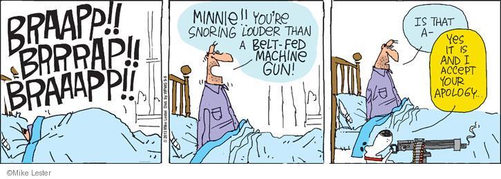 Cartoonist Mike Lester  Mike du Jour 2013-09-09 belt