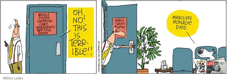 Cartoonist Mike Lester  Mike du Jour 2013-09-20 waiting room
