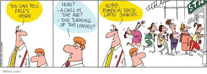 Comic Strip Mike Lester  Mike du Jour 2013-09-30 latte