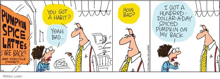 Comic Strip Mike Lester  Mike du Jour 2013-10-02 latte