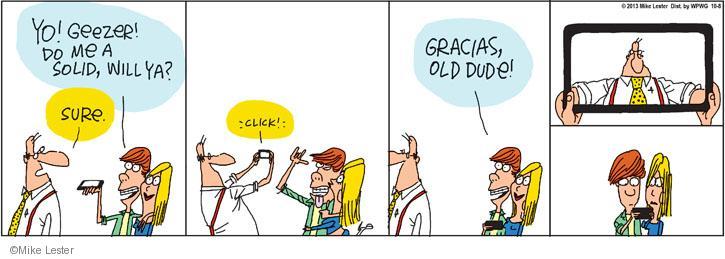 Comic Strip Mike Lester  Mike du Jour 2013-10-08 trick