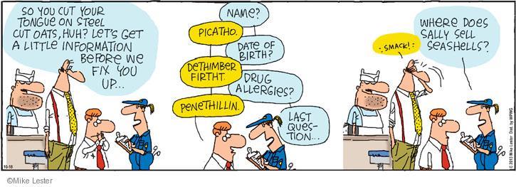 Comic Strip Mike Lester  Mike du Jour 2013-10-18 paramedic