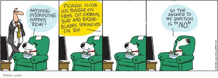 Cartoonist Mike Lester  Mike du Jour 2013-10-19 slice
