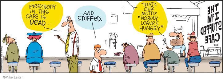 Cartoonist Mike Lester  Mike du Jour 2013-10-31 overeat
