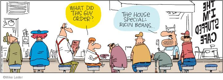 Cartoonist Mike Lester  Mike du Jour 2013-11-01 overeat
