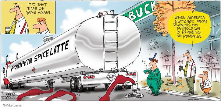Comic Strip Mike Lester  Mike du Jour 2013-11-10 latte