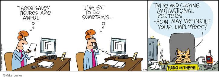 Cartoonist Mike Lester  Mike du Jour 2013-11-18 sell