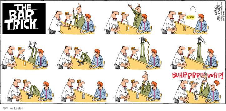Cartoonist Mike Lester  Mike du Jour 2013-11-24 drinker