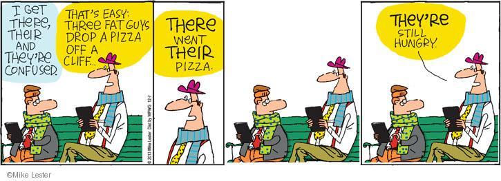 Comic Strip Mike Lester  Mike du Jour 2013-12-07 grammar